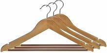 Kleiderbügel aus Holz, m. gummiertem Steg, 3 Stck. im Se