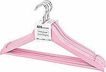 Kleiderbügel aus Holz Rosa Pink - 10 Stück