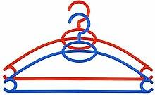 Kleiderbügel aus Kunststoff rutschfest Rot Blau -