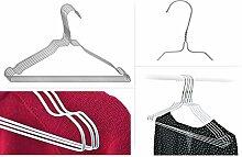Kleiderbügel aus Metall Draht - verzinkt - silber - ideal für Blusen und Hemden - platzsparend . kostengünstig 200 Stück