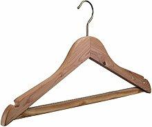 Kleiderbügel aus Zedernholz natur, 5 Stück