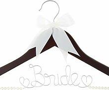 "Kleiderbügel ""Bride To Be"" Mahagoni mit"