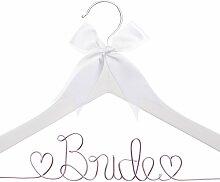 "Kleiderbügel ""Bride To Be"" Weißes Holz,"