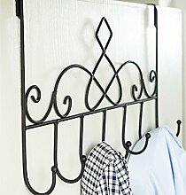 Kleiderbügel Bügeleisen Kreative Einfache Wandbehang Kleiderständer ( farbe : Schwarz , größe : B )