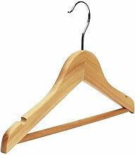 Kleiderbügel für Kinder mit Hosenhalter und Kerben, Holz, verschiedene Packungsgrößen und Farben erhältlich natur