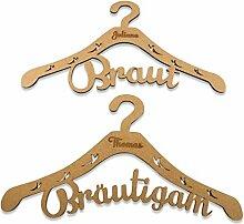 Kleiderbügel - Geschenk für Braut & Bräutigam -