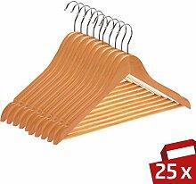 KLEIDERBÜGEL HOLZ 25 Stück Acero ǀ