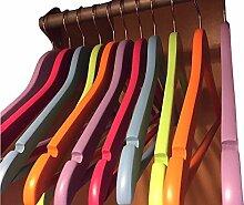 Kleiderbügel, Holz, bunt, 45cm, Kleiderbügel mit Hosensteg–25Stück
