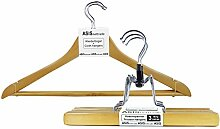 Kleiderbügel + Hosenspanner aus Holz - 5 Sets