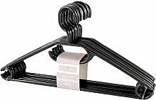 KLEIDERBÜGEL KleBü 100 Stück von 4smile.shop – Made in Germany   WÄSCHEBÜGEL ANZUG-BÜGEL aus robustem Kunststoff   Farbe schwarz