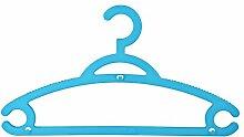 Kleiderbügel Kunststoff Blau mit Stecksystem - 12 Stück