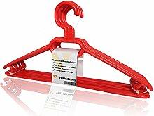 Kleiderbügel, rutschfeste und platzsparende Anzugbügel aus Kunststoff VERPACKING - Rot, 50 Stück