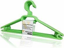 Kleiderbügel, rutschfeste und platzsparende Anzugbügel aus Kunststoff VERPACKING - Hellgrün, 20 Stück