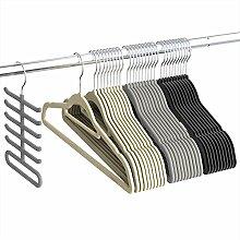 Kleiderbügel, Sable Anzugbügel Jackenbügel 30 Stück, 0,5cm dick, Antirutsch, um 360° drehbarer Haken Multifunktionsbügel für Kleider/Jacken/Hosen/Krawatte, 3 Farben, Krawattenbügel inklusive
