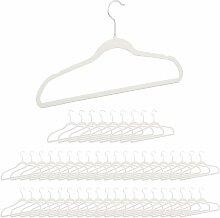 Kleiderbügel Samt Weiß