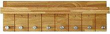 Kleiderbügel / Wandregale / Massivholzplatten Türhänger Garderobe / 4,6,8 Haken Massivholzgarderobe / (350 * 210mm, 520 * 210mm, 710 * 210mm) ( größe : 710*210mm )