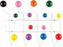 Kleiderbügel weiß mit bunt Haken KUGELN White with multicolour balls
