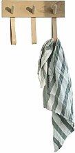 Kleiderhaken aus Massivholz, einfache Wandhaken in