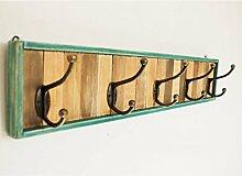 Kleiderhaken Massiv Holzkleider Kleiderbügel Kreativ Retro Hall dekorative Wand Coat Rack ( farbe : Grün , größe : S )