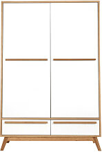 Kleiderschrank 2 Türen skandinavisches Design
