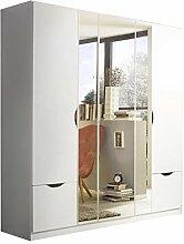 Kleiderschrank 5 Türen weiß B 181 cm H 197 cm