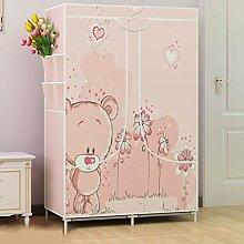 Kleiderschrank GX Einfache rosa Kleine