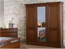 Kleiderschrank Holz Laurel - 3 Türen