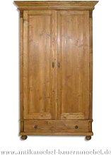 Kleiderschrank Holzschrank Wäscheschrank 2-Türen