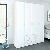 Kleiderschrank in Weiß Türen und Schubladen