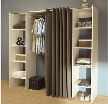 Kleiderschrank Kleiderschranksystem Emeric - Weiß