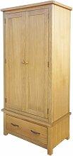 Kleiderschrank mit 1 Schublade 90×52×183 cm