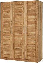 Kleiderschrank mit 3 Türen Wildeiche Massivholz