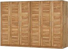 Kleiderschrank mit 6 Türen Wildeiche Massivholz