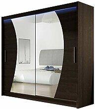 Kleiderschrank mit Spiegel London IX,