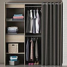 Kleiderschrank mit Vorhang sonoma Eiche B 169 cm Schrank Wäscheschrank Kinderzimmer Jugendzimmer Schlafzimmer Stoffschrank Vorhangschrank