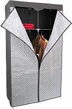 Kleiderschrank PRO ART 3397 STAHLGRAU mit Rauten