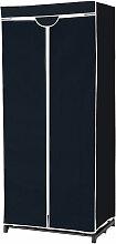 Kleiderschrank Stoffschrank mit Kleiderstange 75 x