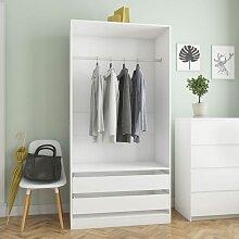 Kleiderschrank Weiß 100 - Hommoo
