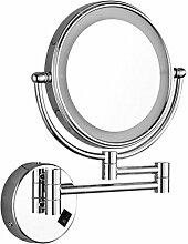 Kleiderspiegel mit LED-Leuchten Badezimmer Vergrößerungsglas Fold 2 Gesicht Spiegel Sensorischer Schalter Normaler Schalter , switch , 10x
