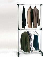 Kleiderständer  auf Rollen mit 2 Stangen
