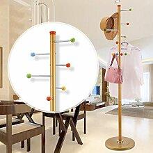 Kleiderständer aus rostfreiem Stahl einfache Montage Kleiderbügel Landung kreative Racks ( farbe : Gold , größe : B )