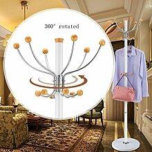 Kleiderständer aus rostfreiem Stahl einfache Montage Kleiderbügel Landung kreative Racks ( farbe : Weiß , größe : C )