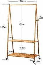 Kleiderständer Bambus für Schlafzimmer Trocknen