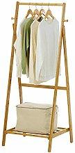 Kleiderständer Bambus verstellbare Kleiderstange