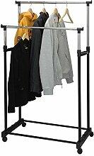 Kleiderständer fahrbar mit 2 Stangen