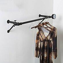 kleiderständer garderobe Retro-Stil Kleiderständer Wand Kleiderbügelhaken Schlafzimmer Haus dekorative Kunst garderobe hutablage ( größe : 1.1m )