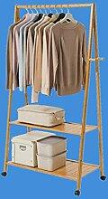 Kleiderständer Massivholz Garderobe mit