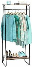 Kleiderständer mit 2 Holzregalen