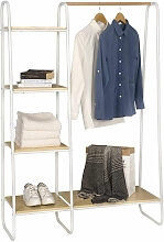 Kleiderständer mit Regal aus Metall & Holz