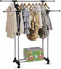 Kleiderständer mit Rollen weiße Kleiderstangen